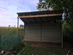 Finished wood shed